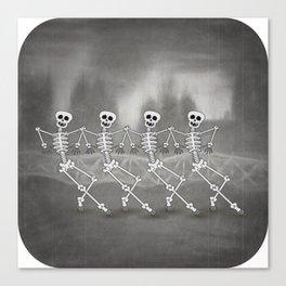 Dancing skeletons I Canvas Print