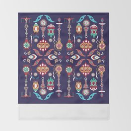 Pieces of Morocco Throw Blanket