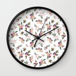 Bouquets of Abundance Wall Clock