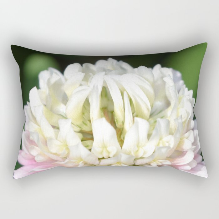 Flower | Flowers | One Clover Flower | Nature Photography | Nadia Bonello Rectangular Pillow