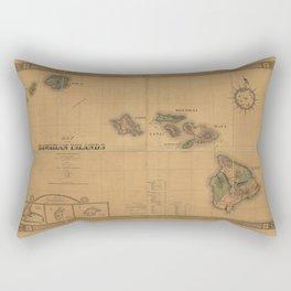 Map of the Hawaiian Islands (1876) Rectangular Pillow