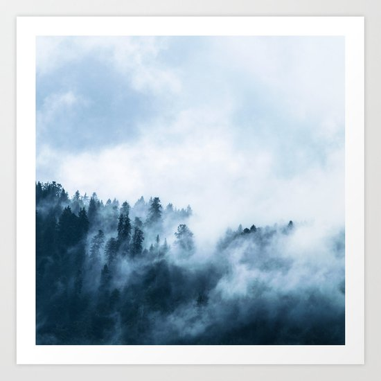 The Wilderness, Foggy Forest Art Print