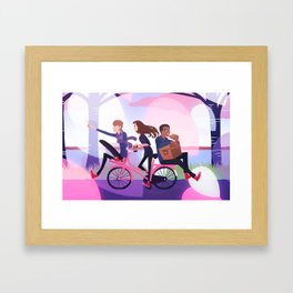 1 2 3 Framed Art Print