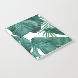 Tropical Summer Jungle Leaves Dream #2 #tropical #decor #art #society6 Notebook