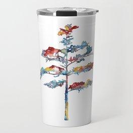 Pine tree #1 - multicoloured ink painting Travel Mug