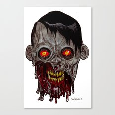 Heads of the Living Dead Zombies: Stare Zombie Canvas Print