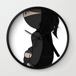 Ninja Crouch Wall Clock