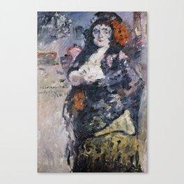 Carmencita, Portrait of Charlotte Berend-Corinth in Spanish Dress Canvas Print