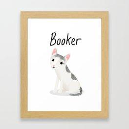 """Custom """"Booker"""" Cat Framed Art Print"""
