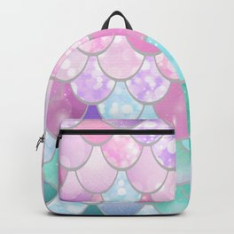 Mermaid Sweet Dreams, Pastel, Pink, Purple, Teal Backpack