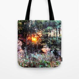 Sunset Forest : Where The Fairies Dwell Tote Bag