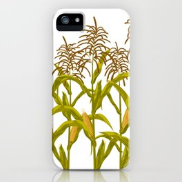 Corn maize pattern iPhone Case
