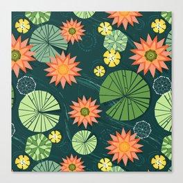 Lily pad pond Canvas Print