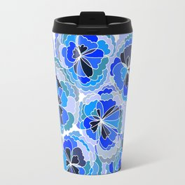 Floral Blue Travel Mug