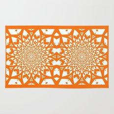 Paper Cuts Orange Rug