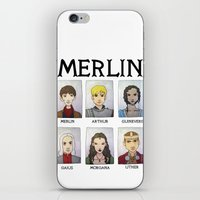 merlin iPhone & iPod Skins featuring MERLIN by Space Bat designs