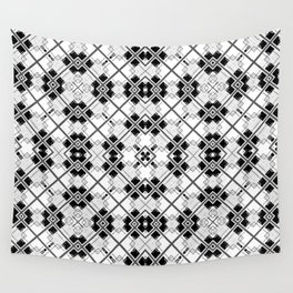 Geometric black and white Wall Tapestry