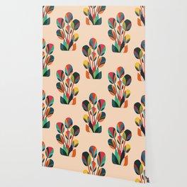 Ikebana - Geometric flower Wallpaper
