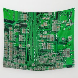 Circuit Board Wall Tapestry