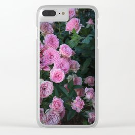 Vintage Pink Roses Clear iPhone Case