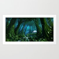 mononoke Art Prints featuring Mononoke by Roberto Nieto