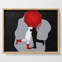 A kiss in the rain Serving Tray