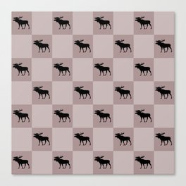 moose cool home pattern Canvas Print