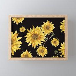Sunflower Pattern 2 Framed Mini Art Print