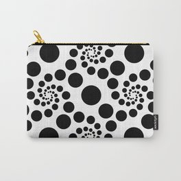 Optical Illusion Dot Spirals Carry-All Pouch