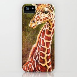 Giraffedrawing, Chalk pastel iPhone Case