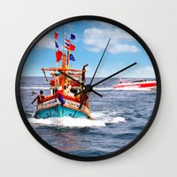 thailand Wall Clocks featuring Pattaya - Thailand by Namchok Petsaen