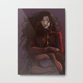 Korra and Asami Metal Print