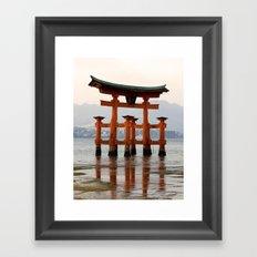 Itsukushime Shrine Torii Gate Framed Art Print