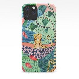 Jungle Leopard Family iPhone Case