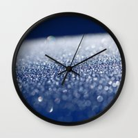 ice Wall Clocks featuring ICE by Lori Anne Photography