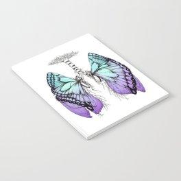 Butterfly Lungs Blue Purple Notebook