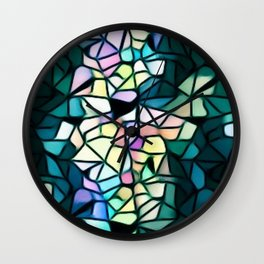 Heart Of Mosaic Wall Clock