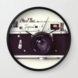 Zorki vintage camera Wall Clock