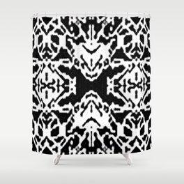 X001_black Shower Curtain