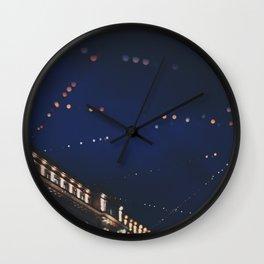christmas lights ...  Wall Clock