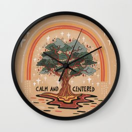 Calm and centered Wall Clock