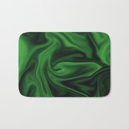 Black and green marble pattern Bath Mat