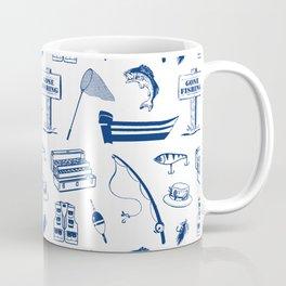 Gone Fishing // Dark Blue Coffee Mug