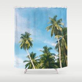 Palms Trees on the San Blas Islands, Panama Shower Curtain