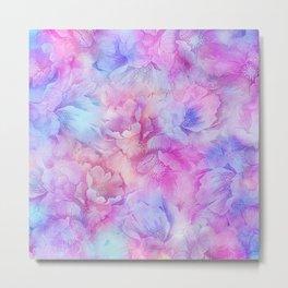 Painted Anemone Flowers Metal Print