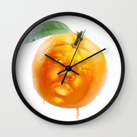 biggie smalls Wall Clocks featuring Biggie Smalls always Juicy  by Razorface