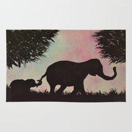 Elephant love <3 Rug