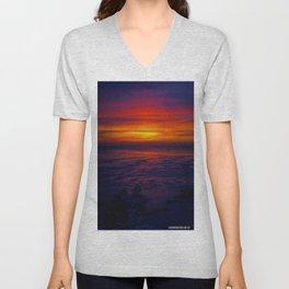 Sunrise in the Vortex Unisex V-Neck