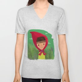 Little Red Riding Hood Unisex V-Neck