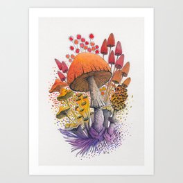 Mushroom Composition #1 Art Print